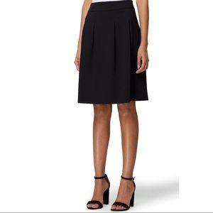 Tahari Pleated Skirt Knee Length Black 12